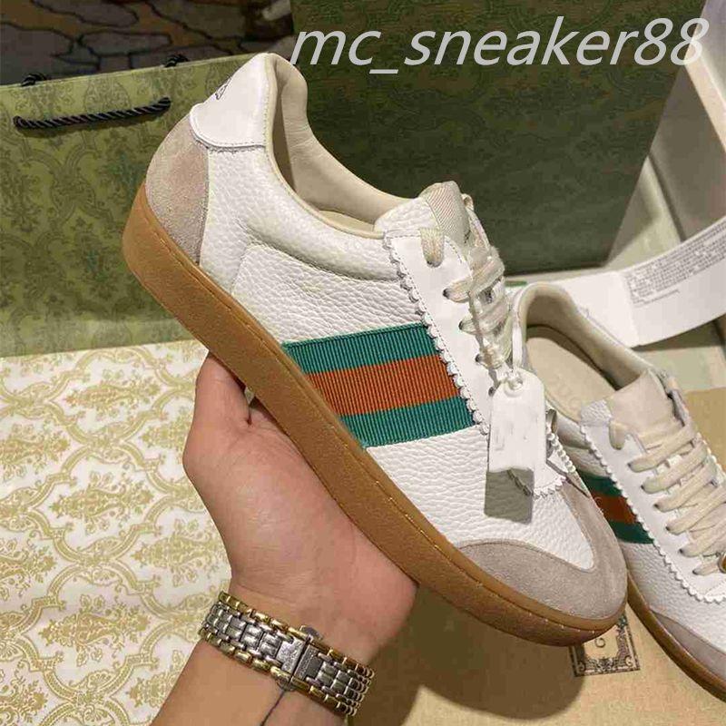 2021 Designer Doppel G Schuhe Sneakers Beige Männer Frauenwissenschaftler Vintage Luxus Chaussures Größe 35-45