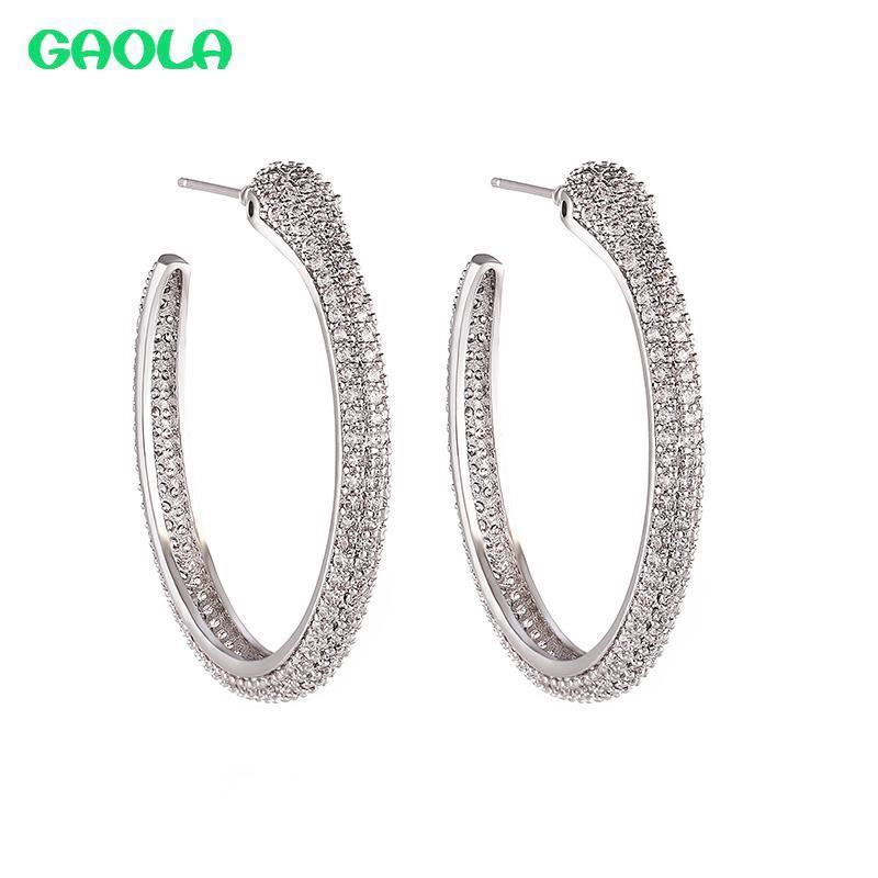 Mode Runde Klar Cubic Zirkonia Snake Hoop Ohrringe für Frauen Mädchen Daily-Life Schmuck Geschenke Gle9354 Huggie