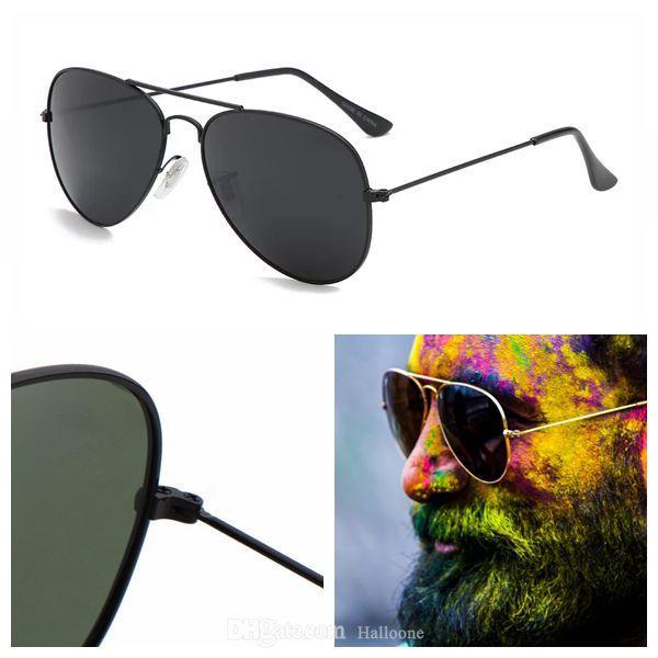 Moda Classic Marca Venta de Lujo 2021 Diseñador Gafas de sol Vintage Piloto Gafas de sol Vintas UV400 Hombres Mujeres Sunglass con caja