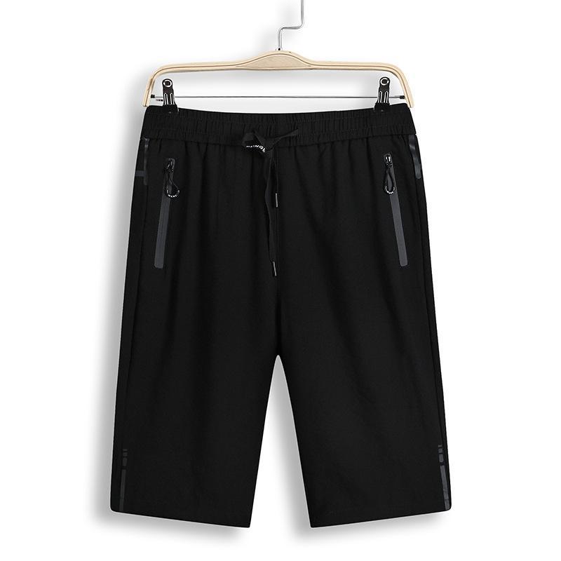 Pantalones cortos para hombres, algodón de verano, algodón de algodón y cáñamo, pantalones cortos, más grandes capris, pantalones sueltos, gordo, casual delgado
