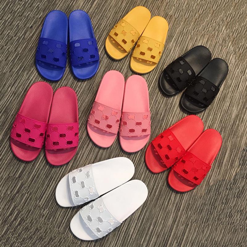 Luxurys designers homens e mulheres chinelos sandálias de corrediça de borracha designer desliza de alta qualidade causal não-deslizamento de verão flip flops