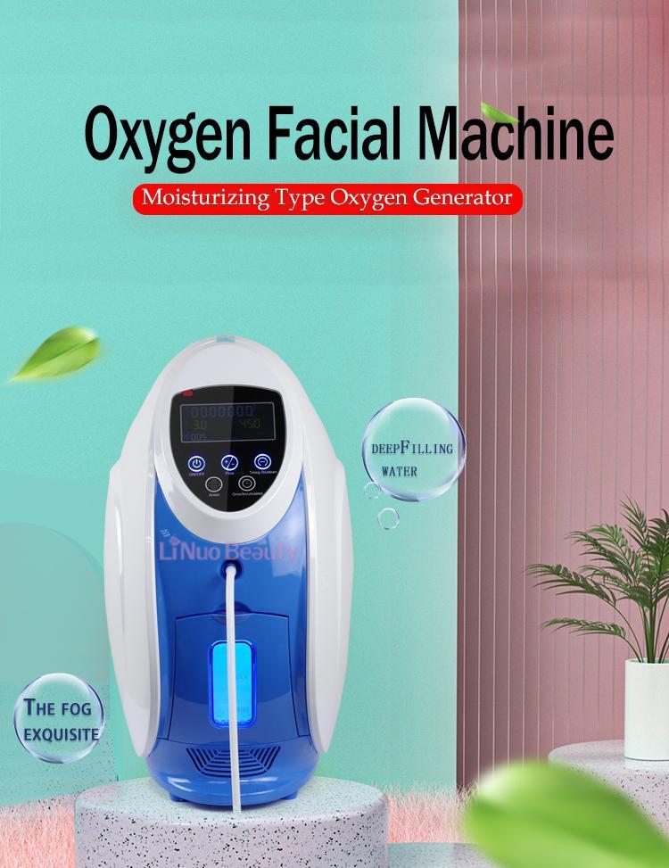 O2toderm Coréia Oxigênio Máscara Facial Máquina De Jato Peel Face Therapy Derma Anion Generato Jett Beauty Equipamento