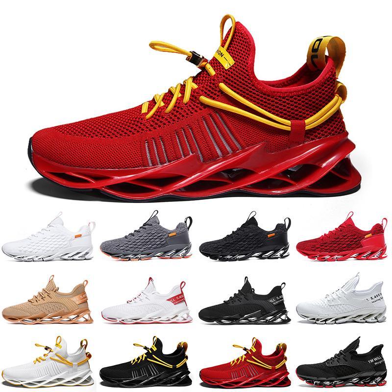 Más barato no marca hombres mujeres zapatillas zapatillas hoja en triple negro blanco rojo gris terracota guerreros para hombre gimnasia entrenadores deportes al aire libre zapatillas deportivas