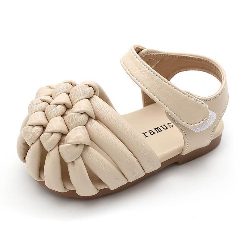 طفل الصنادل أطفال أحذية الفتيات صندل الأطفال ارتداء الصيف طفل الأميرة جلدية الشاطئ الأزياء B7007