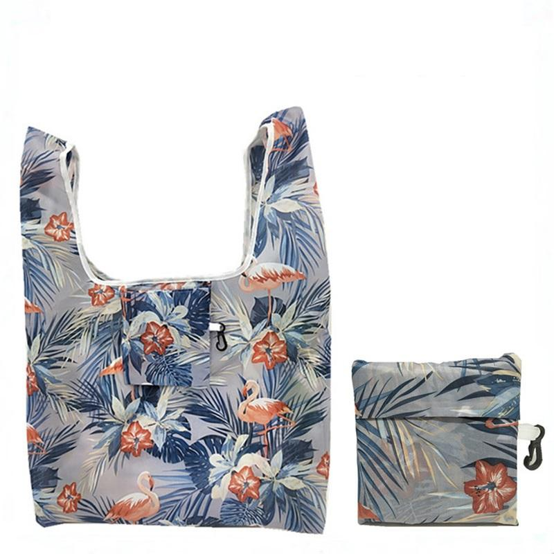 Multifunción Compras Bolsas de asas Fresa Organizador plegable Fresa Hermosa Bolsa de verduras de fruta reutilizable 18 Estilos GGA4692