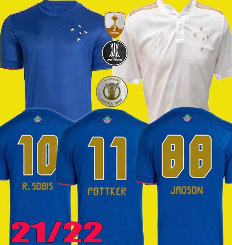 Acquista 100 ° Anniversario Camisa 2021 2022 Centenario Cruzeiro Home Soccer Jerseys 21 22 Dede Léo M. Moreno Pottker Manoel 100 Camicie Da Calcio ...