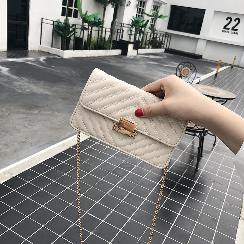 Frauen-Tasche PU-Leder-Schulter-Mode-Kette Messenger kleine Quadrat-Tragetaschen für Frauen Handtaschen Kreuzkörper