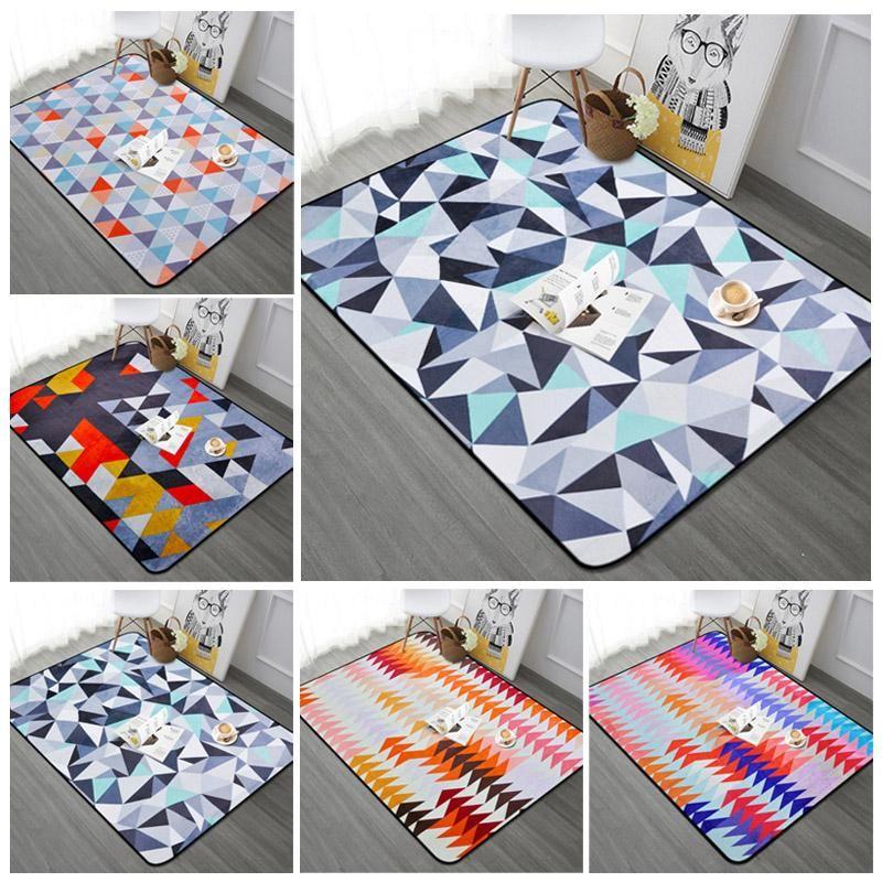 Teppiche Nordic Geometrisches Wohnzimmer Anti-Rutsch Weiches Sofa / Schlafzimmer Fenster Bodenteppich Home Dekorative Kaffeeschalterteppich 100x150cm