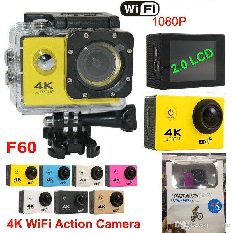 """cameras 4K Sports Action 2"""" WIFI Diving 30 Meter Waterproof 1080P Full HD 140° Camera Sport DV Car colors JBD-M7"""