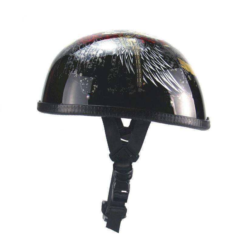 Radkappen Masken Vintage Motorrad Motorrad Open Face Half Motor Roller Helme