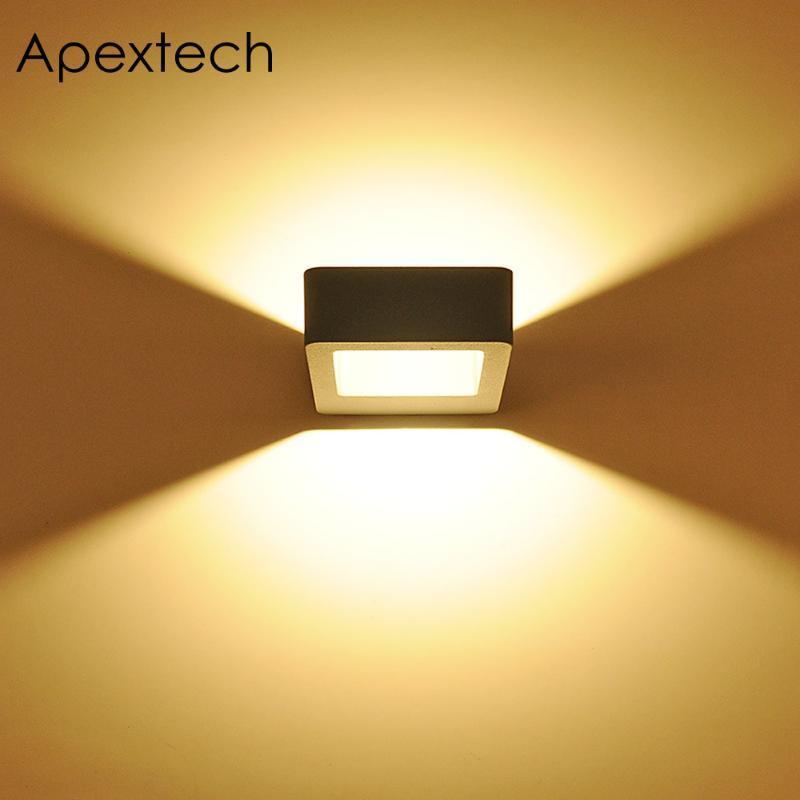 مصابيح الجدار في الهواء الطلق مصباح apextech 8W 10W LED البوليفيين ضوء الشمال التعاقد نمط ماء شرفة شرفة حديقة أضواء AC85-265V