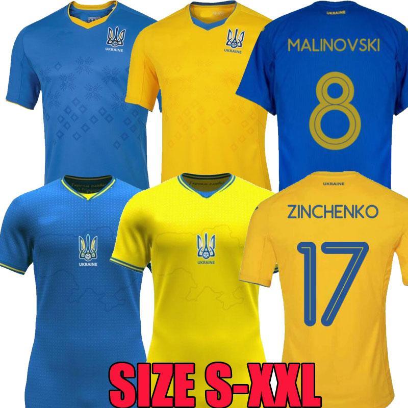 2021 2022 أوكرانيا لكرة القدم جيرسي رومانيا البيت 21 22 Vitaliy Mykolenko Oleksandr Zinchenko Ruslan Malinovskyi فيكتور Tsygankov فريق كرة القدم