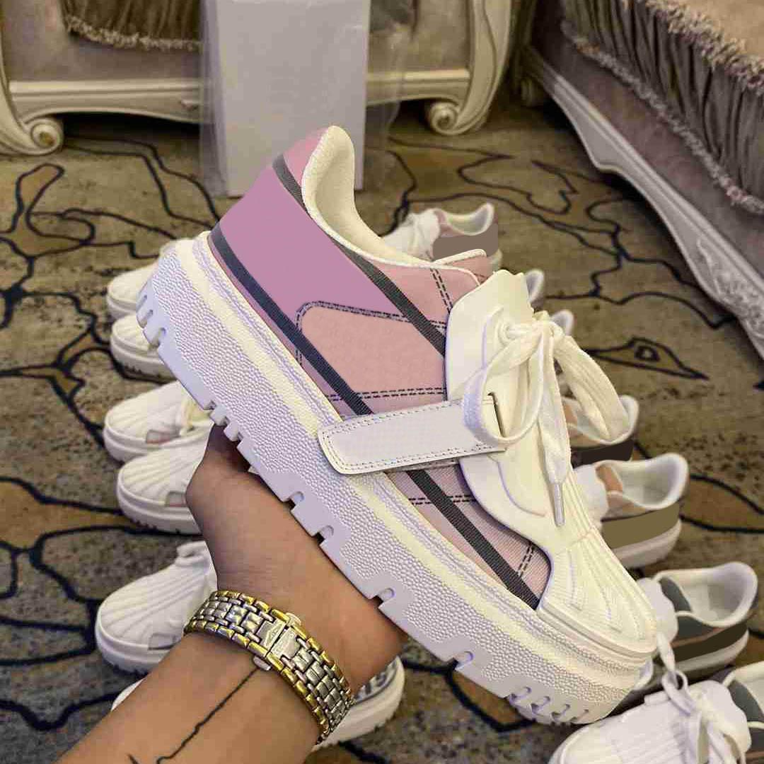 2021 zapatillas de deporte de diseño oblicuo mujeres hombres zapatos de caracol zapatos de color Mostrar altos zapatillas de deporte con alto zapatilla de cuero para hombre de cuero de alta calidad para entrenadores de lujo de alta calidad 35-41