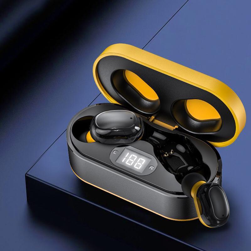 5.0 Наушники Bluetooth Mini Sport Наушники Наушники на наушниках Наушники Двойные беспроводные наушники, беспроводные с зарядкой