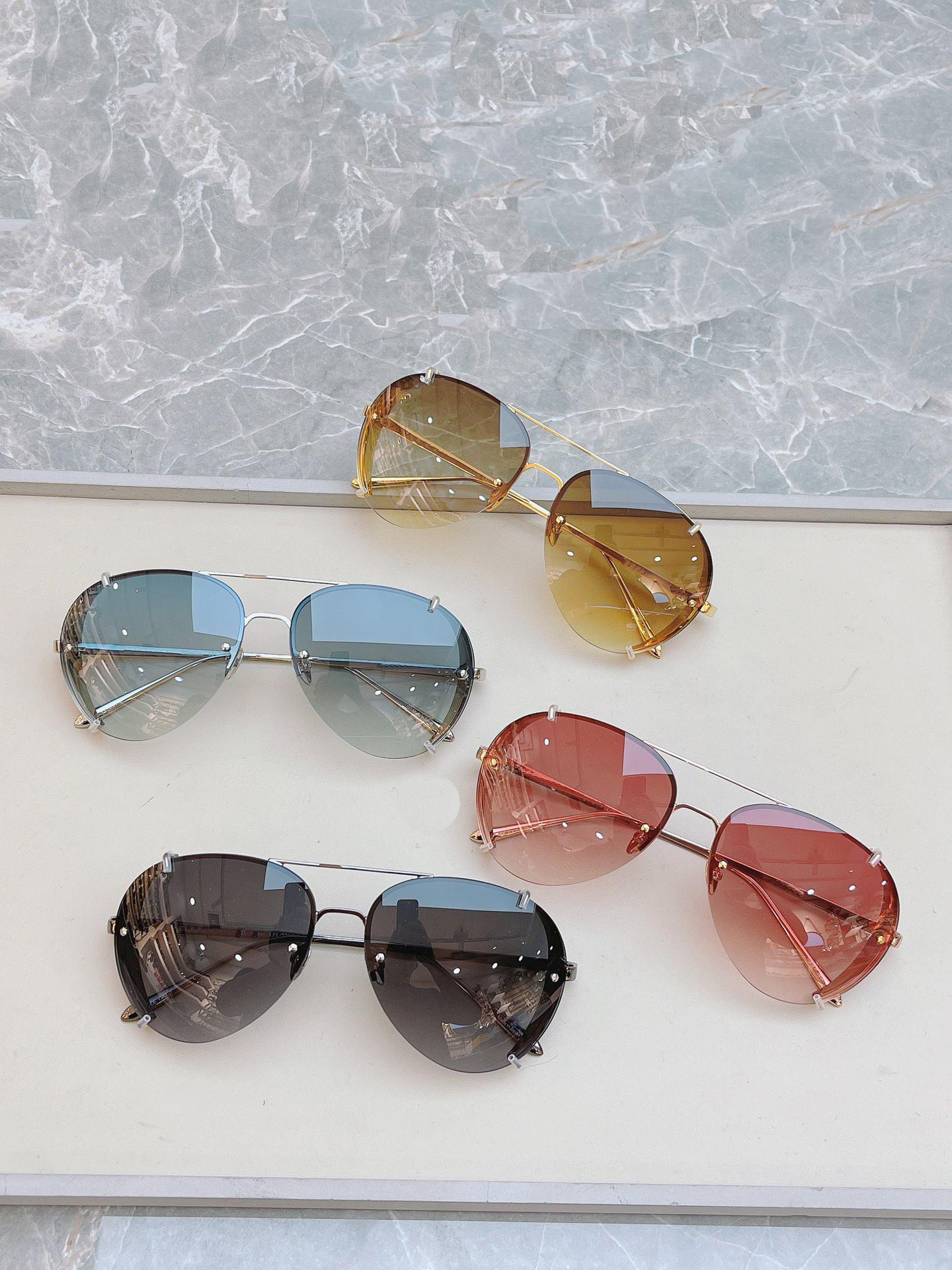 Classic Sunglasses Eyewear Sun Glasses Half Frame Wrap Goggle Protection Beach with Box