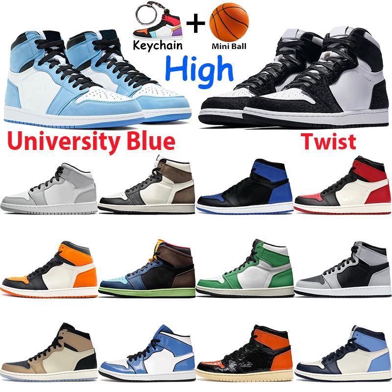 الجامعة الأزرق عالية رجل كرة السلة أحذية فضية بليد الظل ضوء الدخان رمادي شيكاغو منتصف الليل البحرية رويال سبج تويست الرجال النساء منتصف أحذية