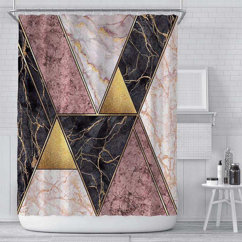 Занавески для душа творческий цифровой печати занавес-водонепроницаемый полиэстер ванная комната для ванной комнаты Sunshade душевые шторы настройки