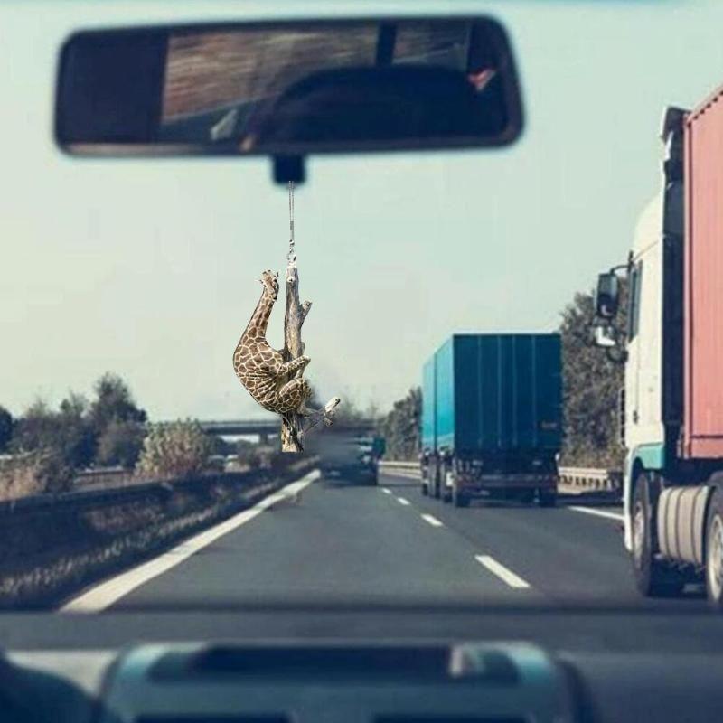 Интерьерные украшения Симпатичные животные автомобиль украшения собака птица жираф кулон аксессуары зеркало автоматический подарок подарки заднего вида украшения q0v1