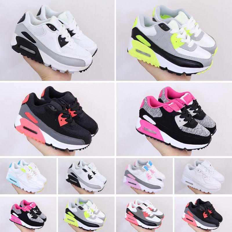 90 Kids Triple S Sneakers for Boys Designer Chaussures Filles Plateforme Enfant Sport Enfants Chaussures Adolescence Épaisse Semelle Jeunesse