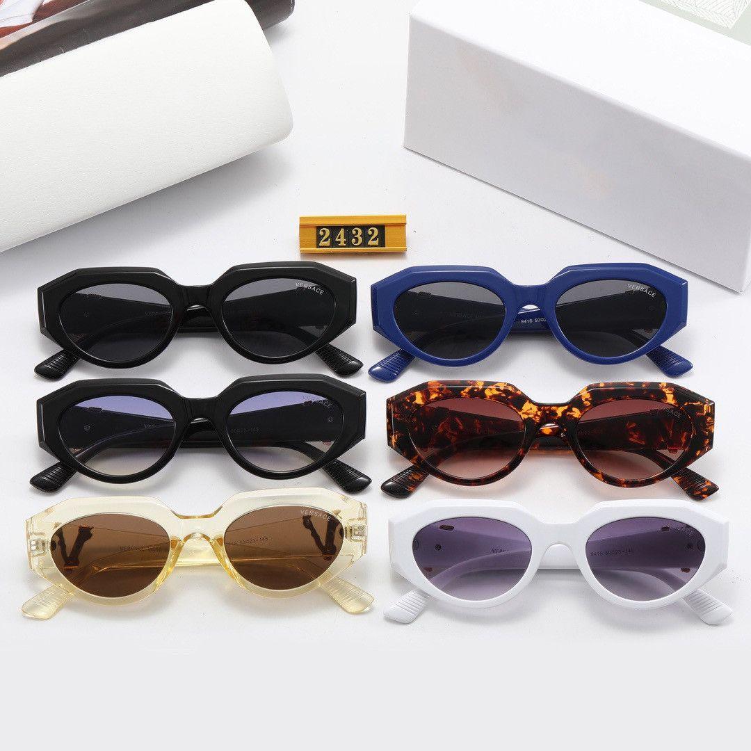 جودة عالية ماركة نظارات الشمس ve 2432 دليل الأزياء النظارات الشمسية مصمم نظارات رجالي إمرأة نظارات الشمس نظارات جديدة مع صندوق القضية