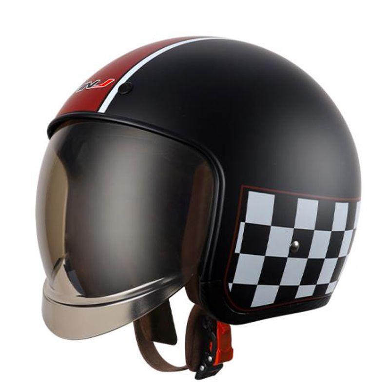Motorcycle Helmet 3/4 Open Face Vintage Casco Moto Men Retro Motor Helmets Summer Scooter Motorbike Riding