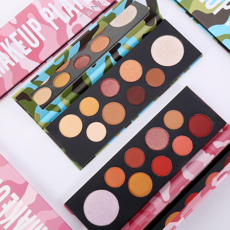 Eye Shadow Nine-color National Goods Makeup Silk Slip Disc Beginner Students Daily Commute Earth Color