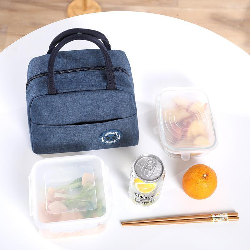 Storage Bags Cooler Waterproof Nylon Portable Zipper Thermal Oxford Lunch For Women Convenient Box Tote Food