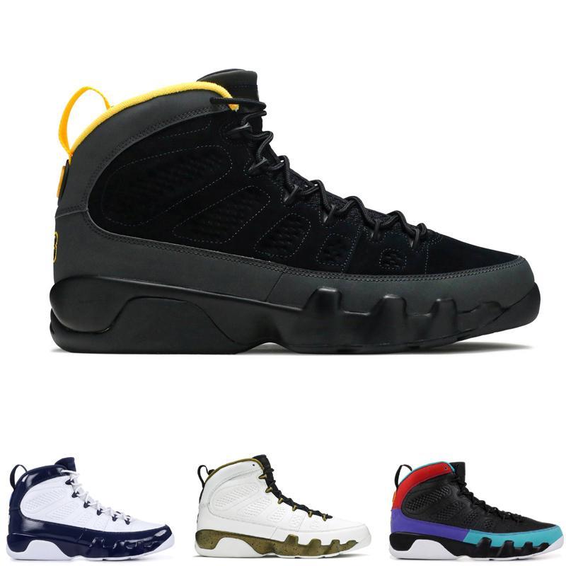 LA BRED BLACK BEYAZ Erkek Basketbol Ayakkabıları klasik 9 s IX Orta Atletik Spor Sneakers