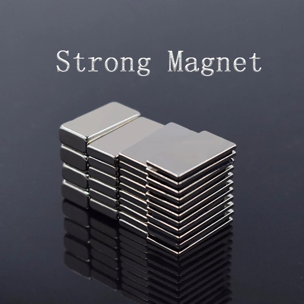 20pcs 20x10x2 블록 NdFeB 네오디뮴 자석 N35 슈퍼 강력한 Imanes 영구적 인 자기 패스너 및 하드웨어 공급