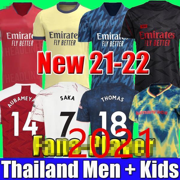 20 21 22 Arsen 424 Soccer Jersey Gunners Pepe Saka Thomas Willian Nicolas Fourtwofour Collezione Camicie da calcio 2021 2022 Uomini 4a Odegaard Thailandia