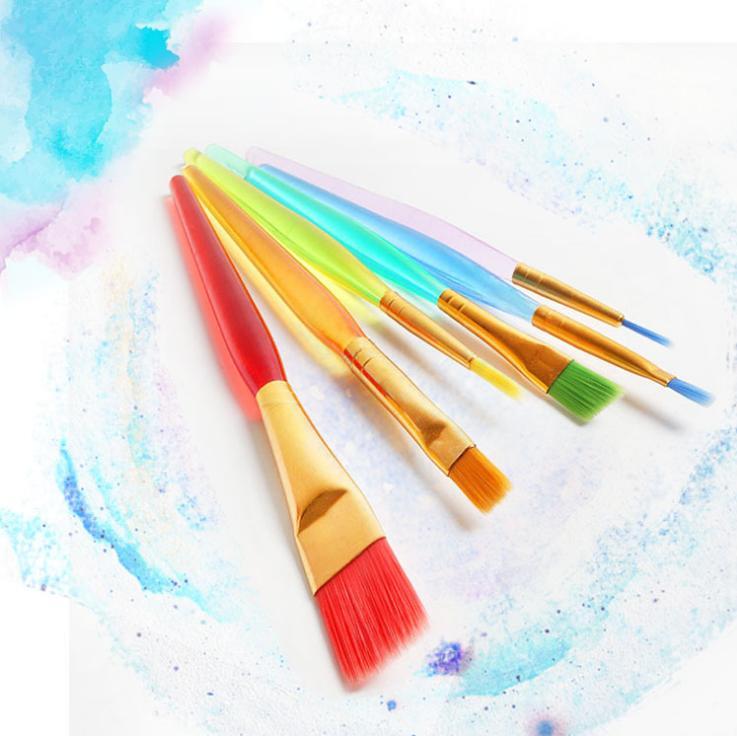 6 العصي شفافة diy الأطفال المائية فرشاة ملونة قضيب الطلاء فرشاة دائم الاطفال لينة فرشاة رسم القلم ZHL5304