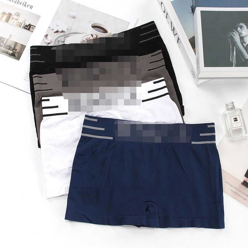Sous-vêtements pour hommes Sous-vêtements sans soudure mode anglais lettre taille moyenne élastique quatre leggings sexy hip ascenseur confortable pantalon plat respirant
