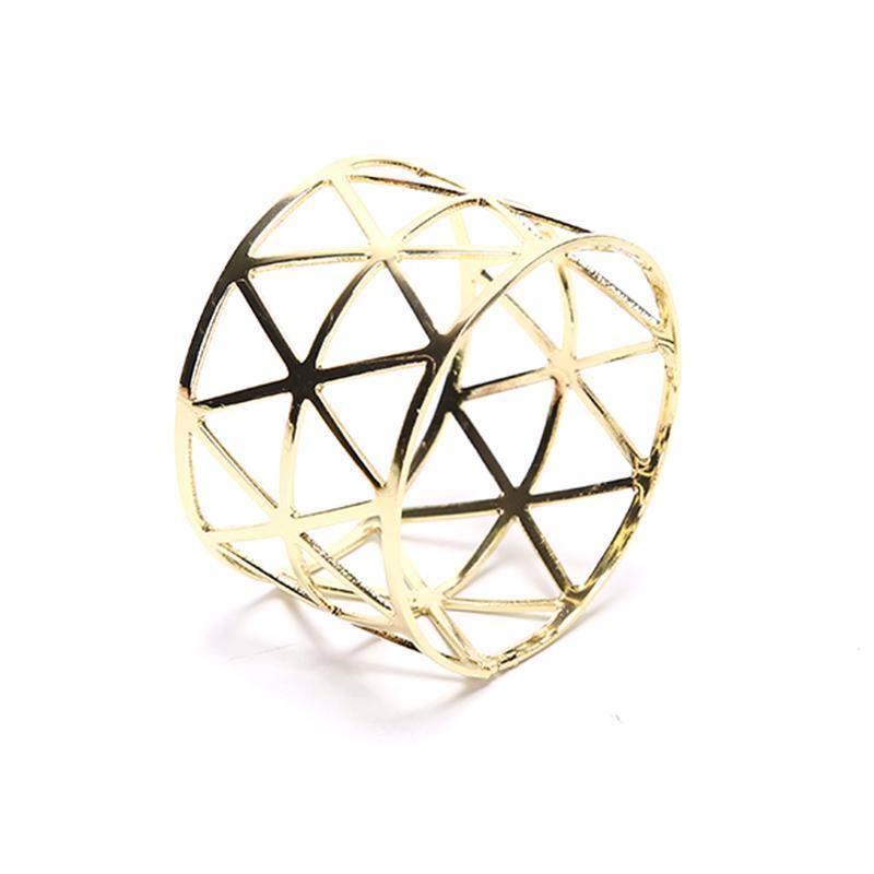 Serviette Ring Schnalle Metall Geometrische Hohl Dinner Tischdekoration Geburtstagsfeier Eheringe Ringe