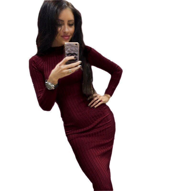 الخريف طويلة الأكمام الضلع bodycon القطن مثير اللباس المرأة 2021 التريكو مرونة المرأة الحوامل يمكن ارتداؤها التفاف السيدات desses فساتين عارضة
