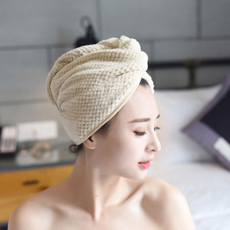 Shower Caps Quickly Dry Hair Hat Wrapped Towel Bathing Cap Turban Bathroom Accessories