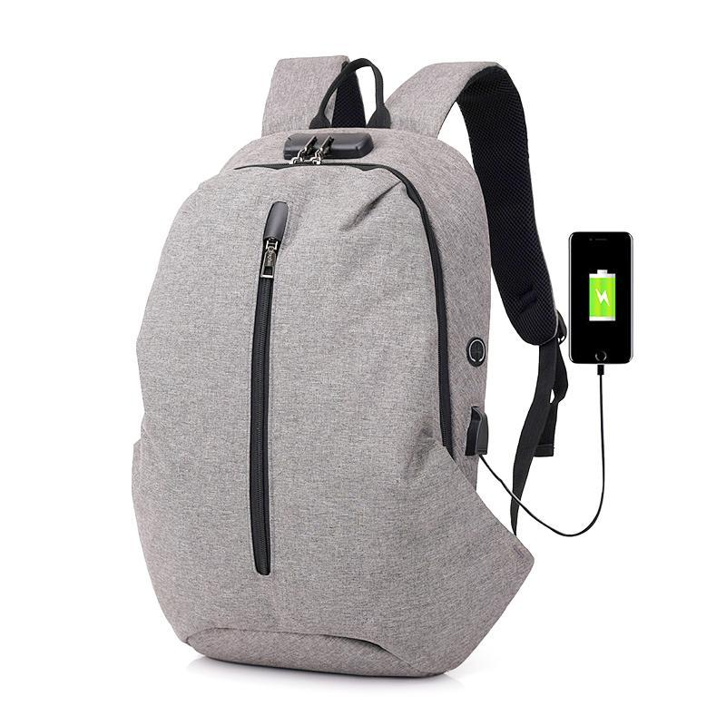 Backpack 2021 Man Laptop Usb Anti-theft Charging Computer Backpacks Casual Style Bags Male Business Travel Bag