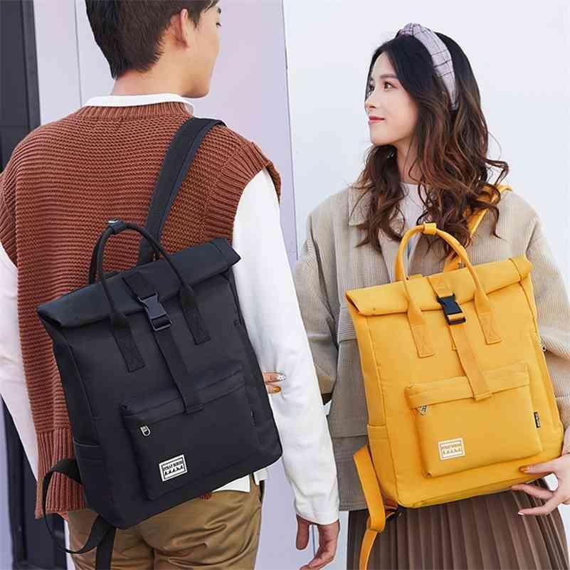 Moda Mochila da Juventude Personalidade Casual Bagpack Bagpack Unisex Grande Capacidade Tablet Bag Bolsa de Estudante Bolsa Literária Trend Backpack 210401