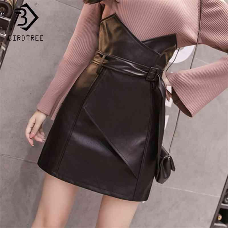 Jupes courtes Solides Solides Femmes Zipper Black High Taille Sashes Fond Summer Office Lady S Ventes B8D723J 210416
