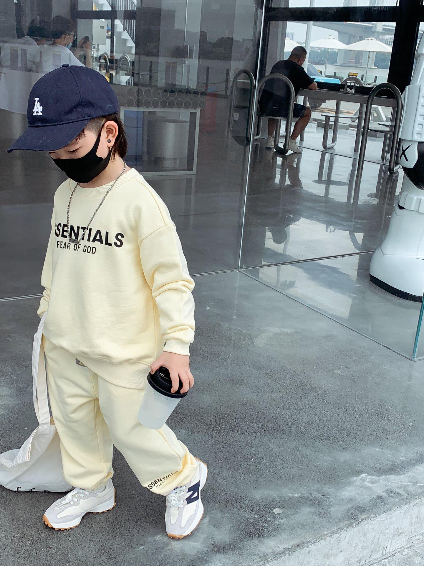 autumn tracksuit for boy girl children cotton hoodie with pants 2pcs/sets baby boy pullover casual sportswear clothes