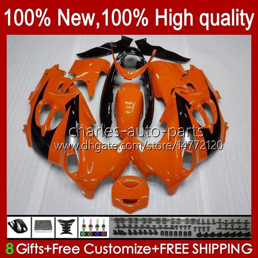 Lichaam voor Suzuki GSXF750 GSXF600 KATANY GSXF 600 750 CC 600CC 750CC 1998 1999 2000 2001 2002 29NO.72 GSX750F GSXF-600 GSXF-750 GSX600F 98 99 00 01 02 Kortend donker Oranje