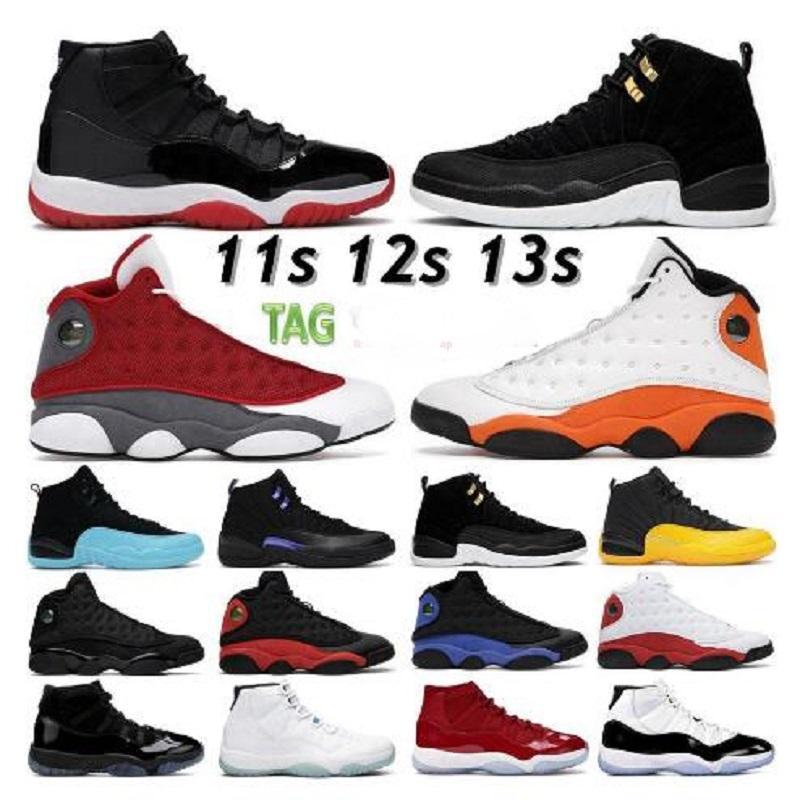 أعلى جودة أحذية رجالي كرة السلة 11 11 ثانية الذكرى 25 bred كونكورد 45 الفضاء مربى 12 12 ثانية النيلي جاما الأزرق عكس تاكسي 13chicago الرجال السود النساء أحذية رياضية