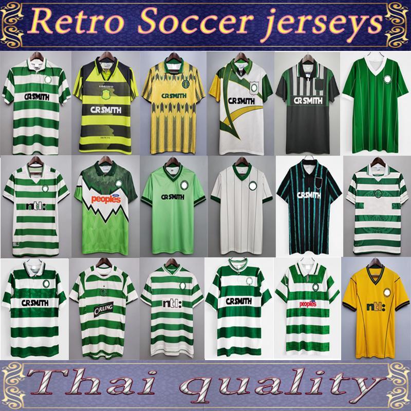 Larsson سيلتيك ريترو 01 03 Soccer Jerseys Home 95 96 97 98 99 Football Shirts Sutton Nakamura Keane 05 06 89 91 92 84 85 Classic Vintage
