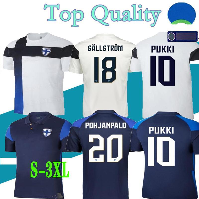 2021 Finlande Soccer Jerseys 21/22 Home Pukki Skrabb Raitala Pohjanpalo Kamara Sallstrom Jensen Lod National Team Chemises de football Uniformes S-XXXL