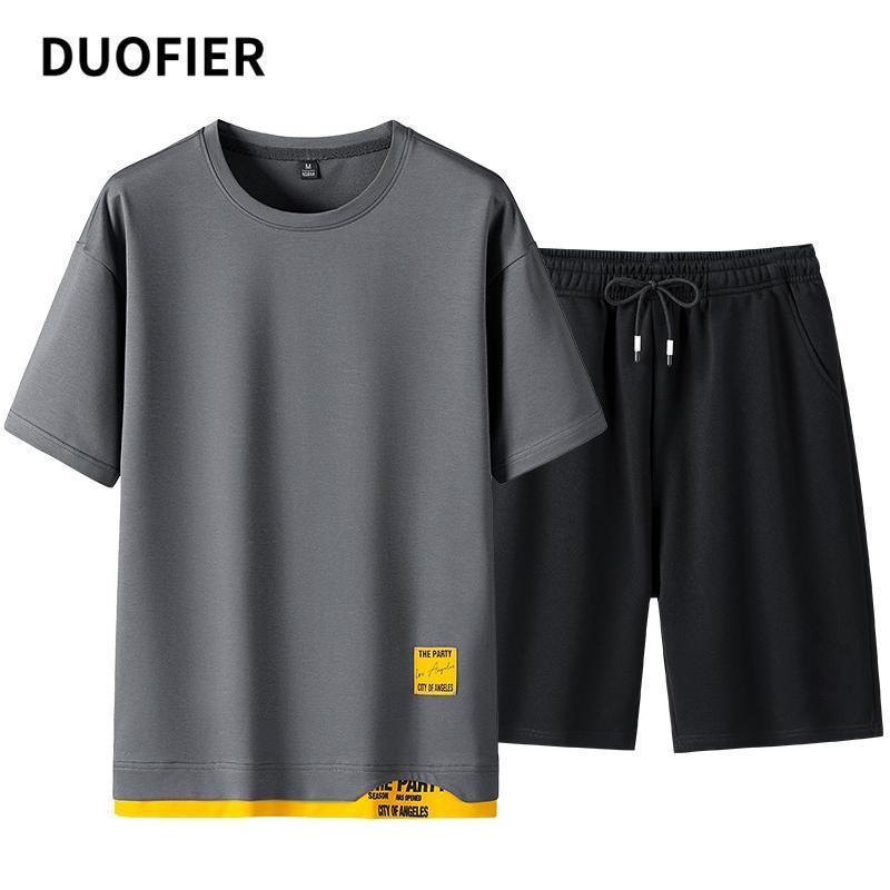 Men's Tracksuits 2021 Men Casual Set Fashion Track Suit Shorts Jogger Sets 2 PCS Oversize Sweat Male Sportswear Tracksuit Summer Sportsuit