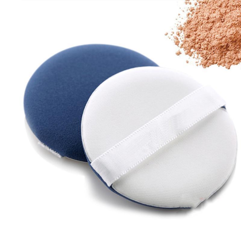 Губки, аппликаторы хлопчатобумажные макияж для лица порошок слойки косметики румянкой круглый фундамент (синий)