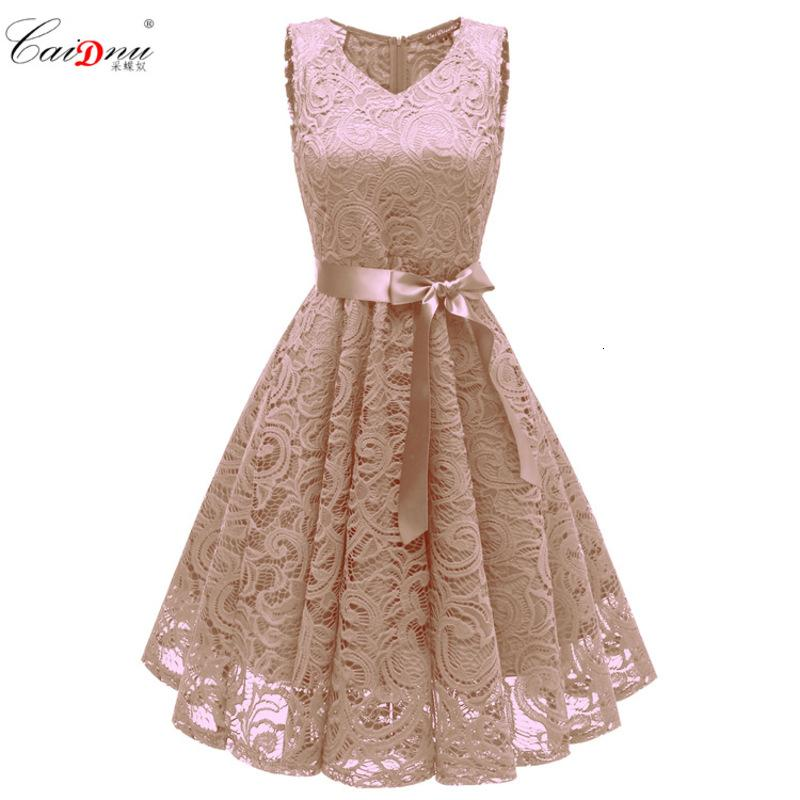 Party Dresses spring and summer Bridesmaid Dress V-neck Sexy Lace Dress