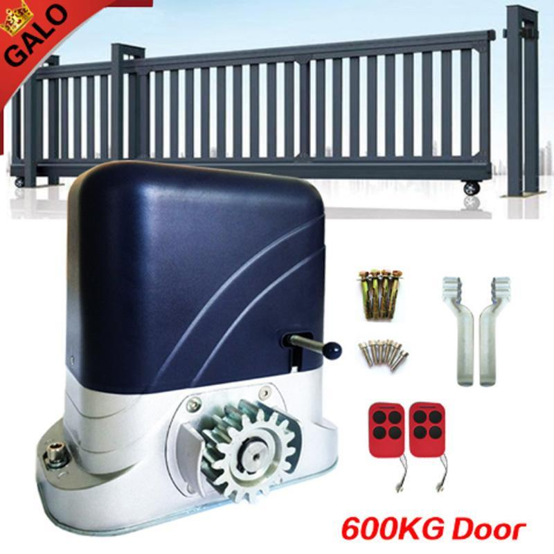 Full Kits Electronic Rolling Sliding Gate Motors Driving 600kg Home Or Factory With 2ps Remote Control Move Door Fingerprint Access