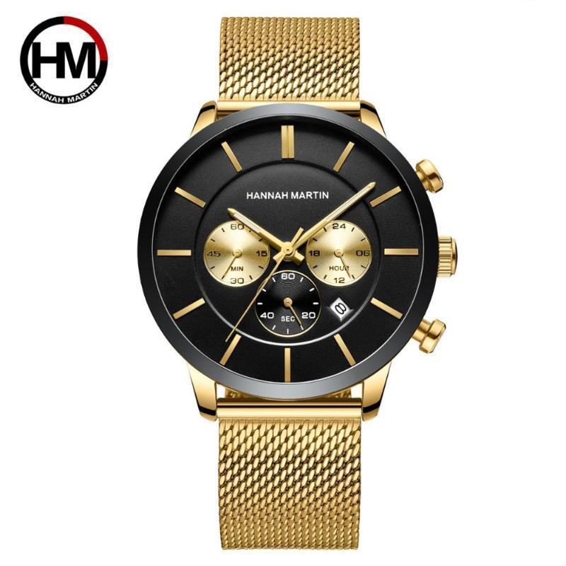 Relojes de pulsera Caída 2021 Moda Clásico Cuarto de acero inoxidable de acero inoxidable de cuarzo multifunción