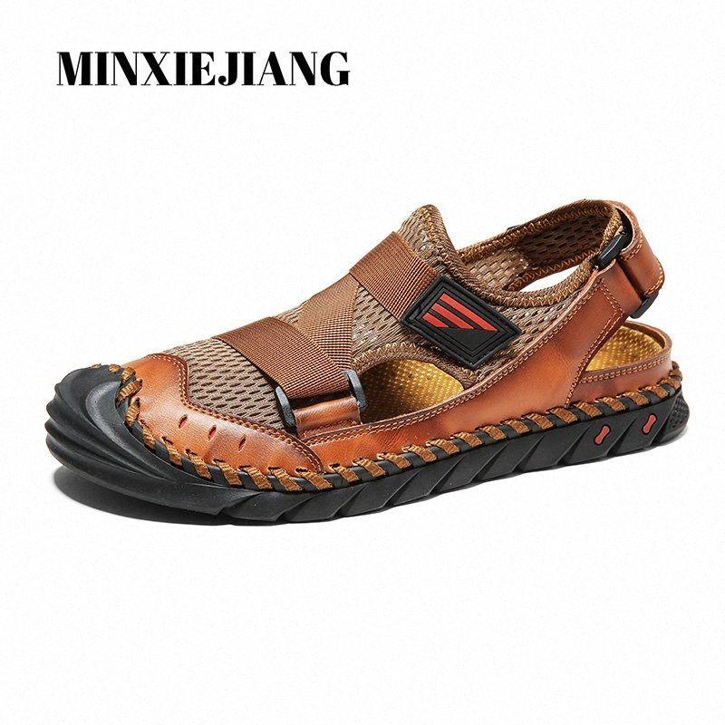 Summer New Sandalias para hombre Sandalinas Zapatillas de deporte Moda transpirable al aire libre Zapatos para hombre Zapatos casuales Malla cómoda Roman 38 48 Bombas zapatos de zapatos Venta de zapatos, $ 26 20o1 #