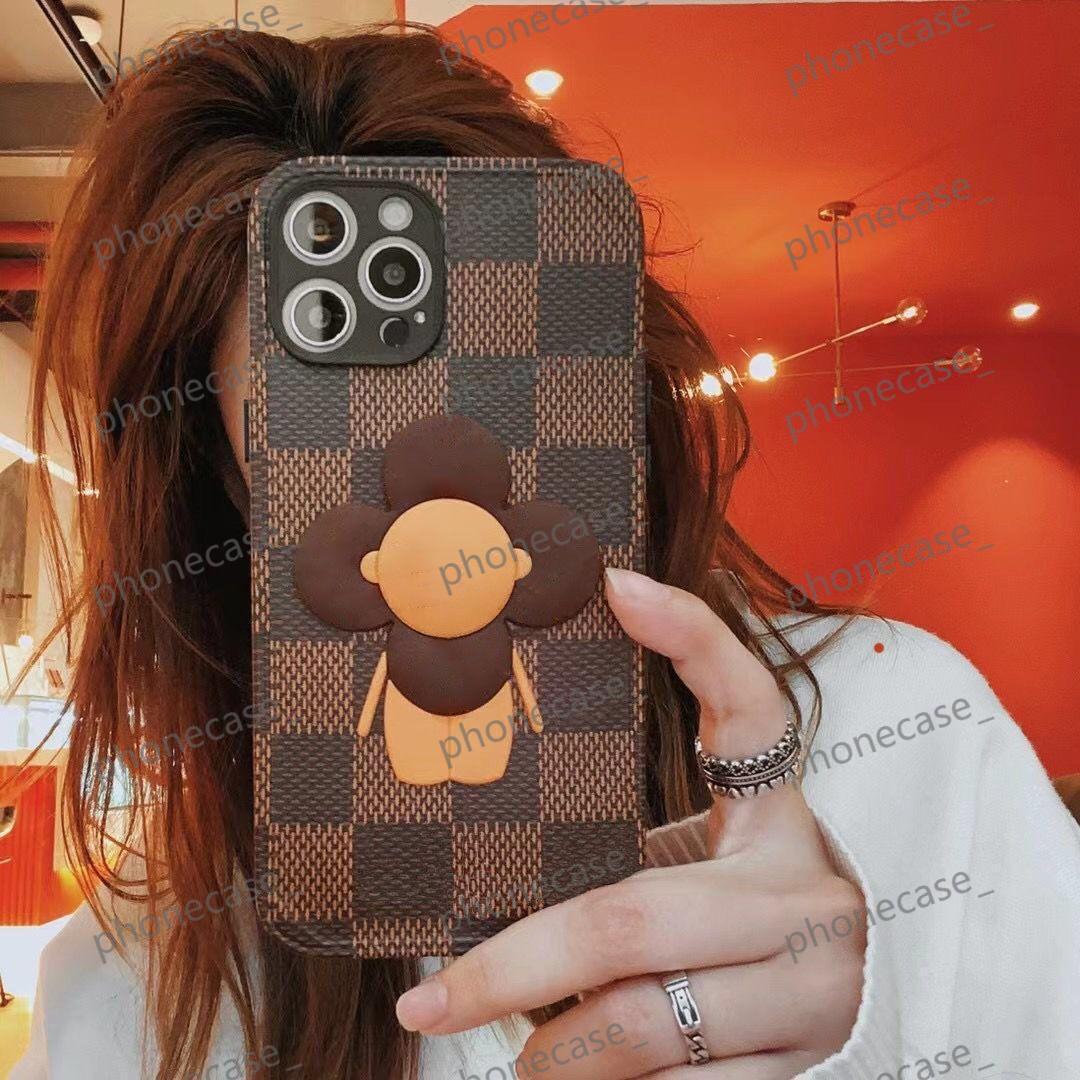 جلد فون الحالات محفظة حقيبة يد حزام حالة محفظة التسامي عباد الشمس دمية جميلة ل iphone11 12pro 11xs xsmax xr 8plus 8 7plus تاجر الجملة JDJ004